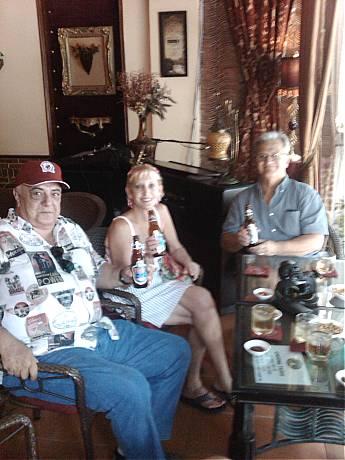 Roy, Arlene, Frank drinking