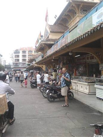 Dave at Cholon Market March 15, 2009