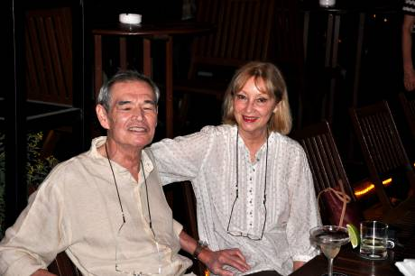 Chow and Anne-Marie at Majestic Hotel Bar March 12, 2009
