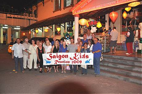 Saigon Kids Group after Water Puppet Show - March 14, 2009