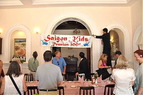 Hanging Banner at Continental Hotel Brunch March 15, 2009