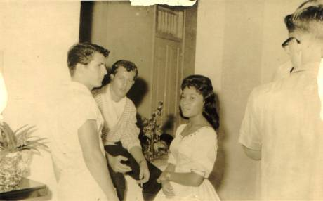 Frank, me and Veny at Larry's Party 1960