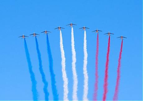 Jets Over Paris Bastille Day 2009