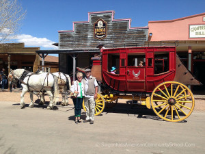 Saigon Kids: Circa March 22, 2013. Frank Stoddard and Susie Stann at Tombstone, AZ. Frank Stoddard Collection.