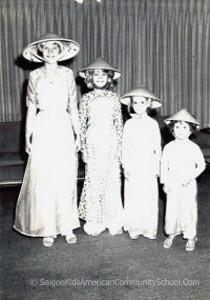 Deborah, Dori, Jayne, and Diane Britton enroute state side 1964 aboard U.S.S. President Cleveland. Circa 1964. Dori Britton Collection.