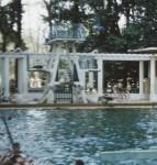 Cercle Sportif Saigon swimming pool diving tower. Circa 1956.