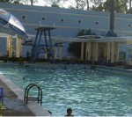 Cercle Sportif Saigon swimming pool diving tower.