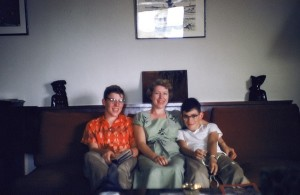 Michael O'Brien with mother, Dorothy Eggers, and brother Pat. Circa 1955 Saigon. Michael O'Brien Collection.