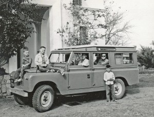 Cooper family in Land Rover in Dalat 1963