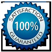 100% Satisfaction Guaranteed-blue